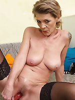 Sensuous mature mistresses getting naked