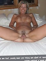Seductive old housewives posing fully undressed on camera