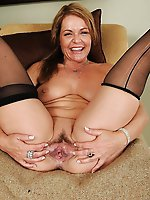 Charming older housewives getting naked