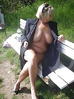Adored mature female in a sex gallery