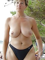 Mature mistress posing naked