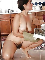 Voluptuous aged cutie playing herself