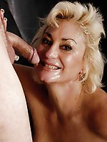 Explosive MILF getting undressed on pictures