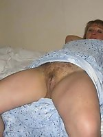 Fantastic aged damsel having hairy twat