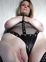 Sweet older housewife spreading her hips on pictures