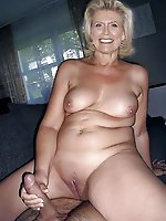 Horny woman playing herself