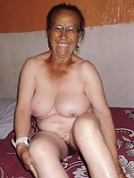 Older dame getting nude on picture