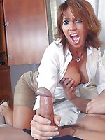 German older cougar in provocative underwear
