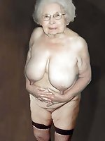 Sexiest older mademoiselles posing undressed in public