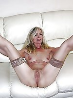 Concupiscent mature housewives getting undressed