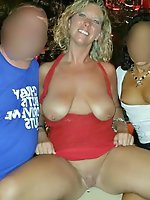 Leaking mature strumpets in sexy dress
