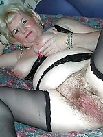 Shocking mature mistresses posing totally nude