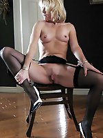 Mature housewife in her solo play