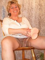 Incredible mature MILFs get ready for porn