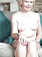 Adored old female with soaked slit