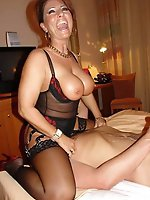 Lascivious mature cougars trying to tease