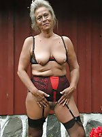 Sensational mature girls in their solo play