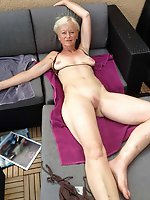 Mature gilf is playing herself