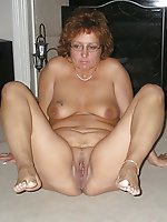 Dissolute old slut with slippery pussy