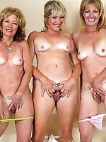 Fantastical experienced women posing fully naked