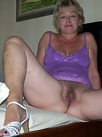Prurient mature mom is taking off her panties